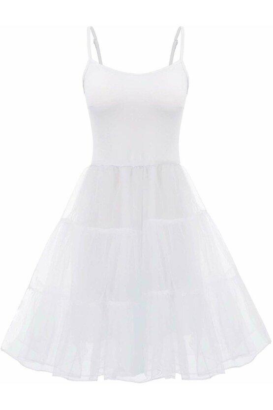 Furou rochie alb din satin 4733