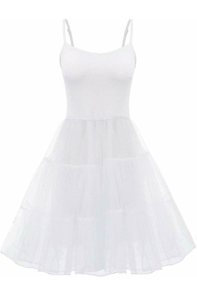 Furou rochie alb din satin