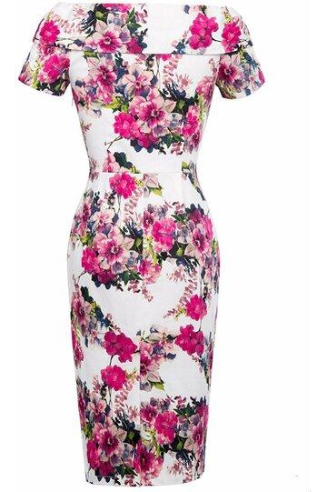 Rochie Elena roz floral