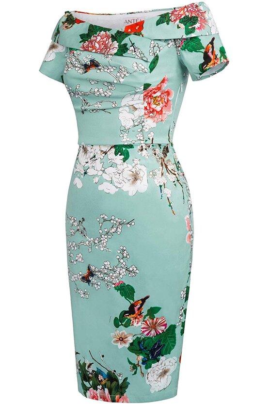 Rochie Elena verde floral 5729