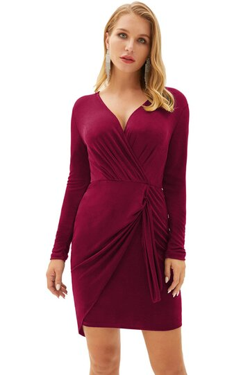Rochie Lilly bordeaux
