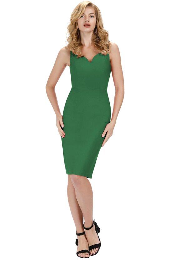 Rochie Olivia verde 6275