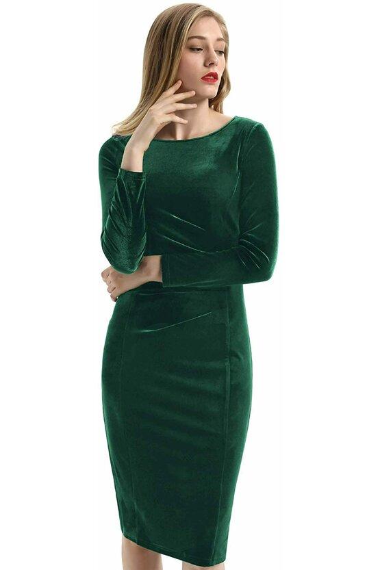 Rochie Sabrina verde 6911
