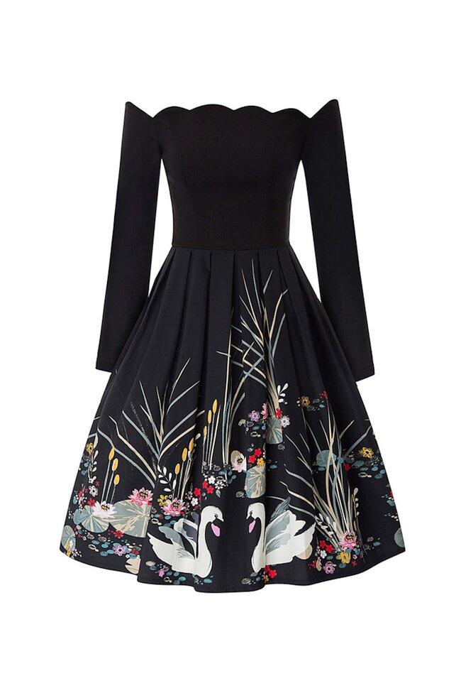 Rochie rochii retro stil anii 50   LaFrivole.com rochie
