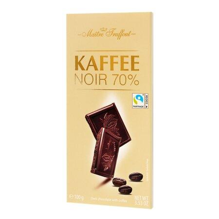 Ciocolata neagra 70% cu cafea Maitre Truffout