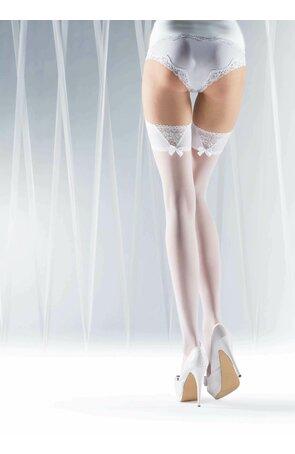 Ciorapi albi cu banda adeziva First Dance