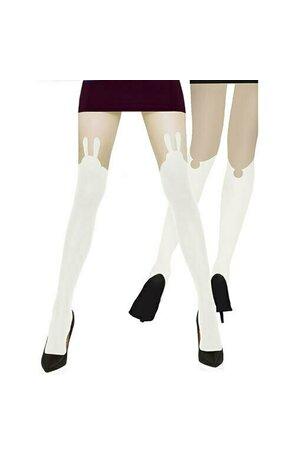Ciorapi cu model de dama Bunny