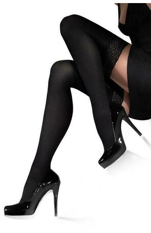 Ciorapi de dama 100 den, cu banda adeziva, din microfibra 3D, Marilyn Chance 100