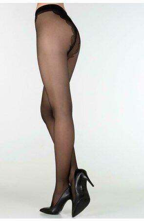 Ciorapi subtiri, cu chilot decorat, Bikini 20