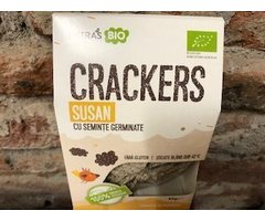 ECO CRACKERS RAW SUSAN CU SEMINTE GERMINATE 80 GR
