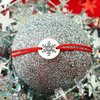 Bratara Craciun - Afara ninge linistit - Argint 925, snur reglabil diverse culori