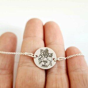 Bratara personalizata cu lantisor - Mom of Girls - Banut 15 mm - Argint 925
