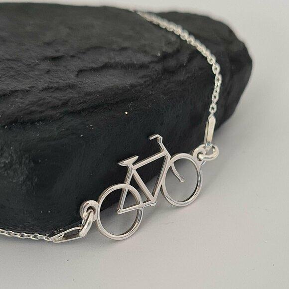 Bratara bicicleta cu lantisor - Argint 925