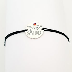 Bratara Bride Squad - Argint 925, snur negru