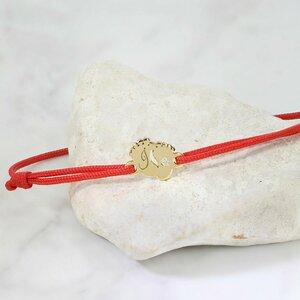 Bratara cu Diamant natural - Model picioruse - Aur Galben/Roz/Alb 14K si snur reglabil