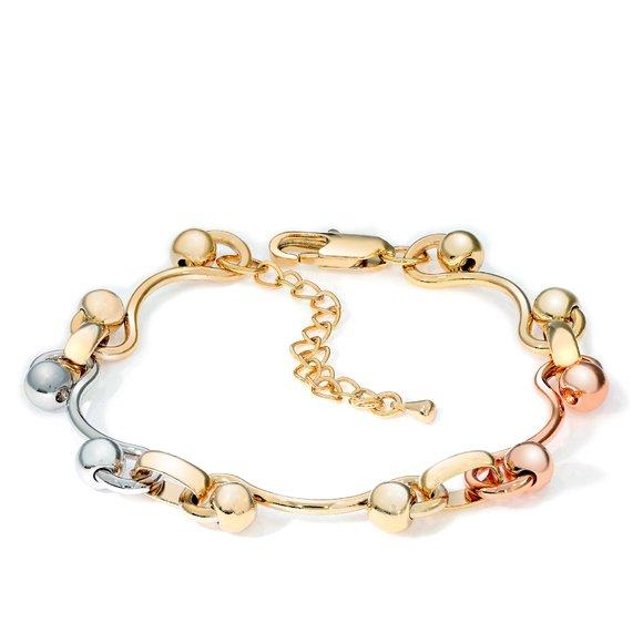 Bratara - Curly Embrace - placata cu aur 18K