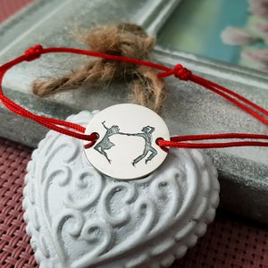 Bratara - Dans de cuplu - Argint 925 si snur rosu