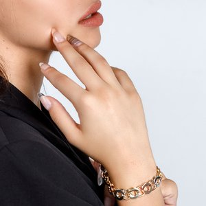 Bratara - Enchanted Chains - placata cu aur 18K
