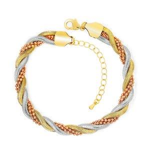 Bratara - Golden Twist - placata cu aur 18K
