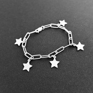 Bratara personalizata - Chic Elements - Lant cu zale dreptunghiulare - Pandantive diverse simboluri - Argint 925