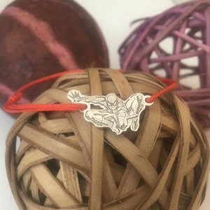 Bratara personalizata - Spiderman - Omul Paianjen - Argint 925, snur reglabil