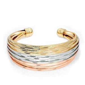 Bratara - Round Powerful Cuff - placata cu aur 18K