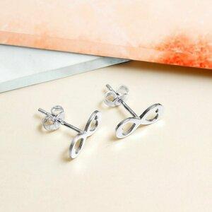 Cercei infinit cu inimioare decupate - Argint 925 - inchidere surub