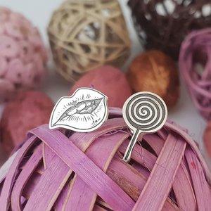 Cercei personalizati - Feeling Delicious - Colectia Moody - Argint 925