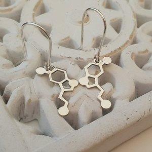 Cercei simbol serotonina - Argint 925, tortita