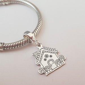 Charm personalizat Craciun - Casuta de turta dulce - Argint 925