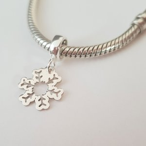 Charm personalizat Craciun - Fulg de nea - Argint 925