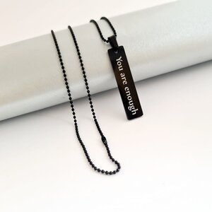 Lant Army unisex - Placuta personalizata - Otel inoxidabil negru