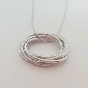 Lantisor 6 decenii – 6 cercuri unite – Argint 925