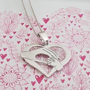Lantisor Inima - Ocrotirea mamei - Argint 925