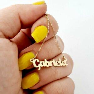 Lantisor nume - 7/8 litere - Aur Galben 14k