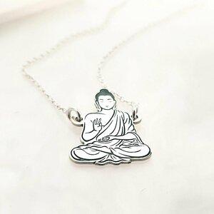 Lantisor personalizat - Buddah - Argint 925