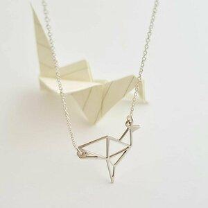 Lantisor personalizat - Origami Cocor - Argint 925
