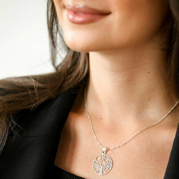 Lantisor premium - Copacul Vietii - personalizat cu nume - Argint 925