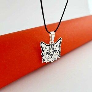 Pandantiv Pisica Tigrata - Argint 925