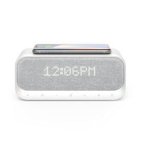 Boxa wireless bluetooth Anker SoundCore Wakey, ceas, alarma, radio FM, incarcator wireless QI 10W, Alb