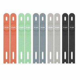 Curea silicon Ringke pentru fixare cabluri de date, Multicolor (set 10 buc)