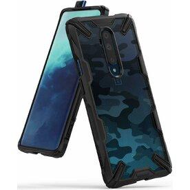 Husa Oneplus 7T Pro Ringke FUSION X Design Negru Camuflaj