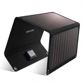 Incarcator solar pliabil RAVPower Prime 21W, 2 porturi, Negru