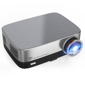 Proiector video HD TaoTronics, 1080P, LED, 3500 lm, 200 inch, Argintiu