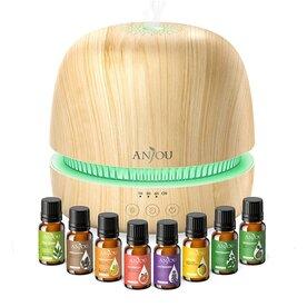 Set Difuzor aromaterapie Anjou AJ-PCN082 cu 8 uleiuri esentiale pure