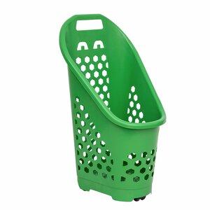 Carucior de cumparaturi 70 de litri, Verde