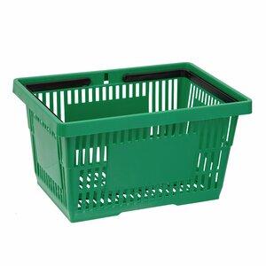 Cos de cumparaturi cu maner 28 Litri, Verde