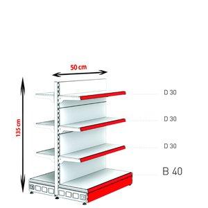 RAFTURI METAL RM-13 Înălțime-135, Lățime-50cm, Bază:40