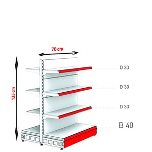 RAFTURI METAL RM-13 Înălțime-135, Lățime-70cm, Bază:40