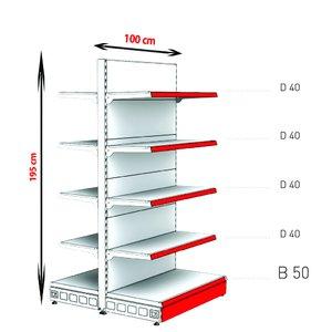 RAFTURI METAL RM-13 Înălțime-195, Lățime-100cm